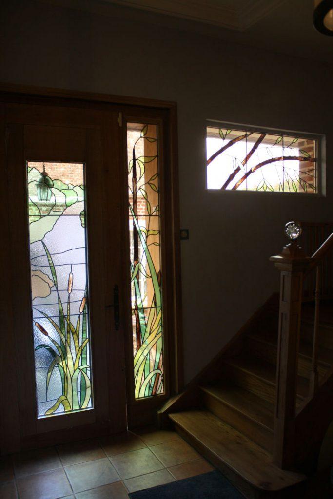 Le marais 3 _ Création de vitraux insérés dans un double vitrage